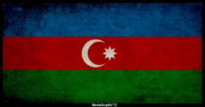 Grunge Azerbaijan Flag by ManiaGraphic