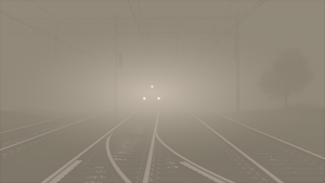 Train station in the mist by Avenegerc47