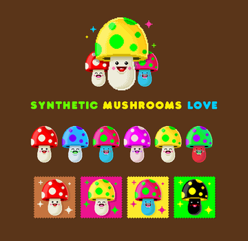 Synthetic Mushrooms Love by dimpoart