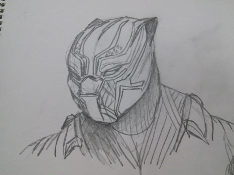 Black Panther School Sketch by allisonneal