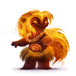 DAY 501. Sketch Dailies  Challenge - Pele by Cryptid-Creations