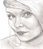 Girl Face I by e5ther