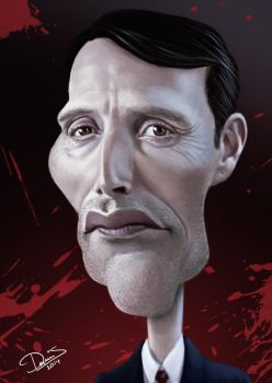 Mads Mikkelsen, Hannibal Caricature by Disse86
