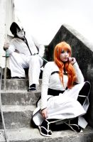 Orihime Inoue and Ulquiorra Cifer Cosplay by SailorMappy