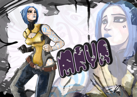 BORDERLANDS 2 MAYA as siren by VeloLagoon