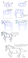 Tutorial - How to draw a horse sketch like Namsis by Namsis