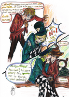 Hatter and Scarecrow RP Art by michi-no