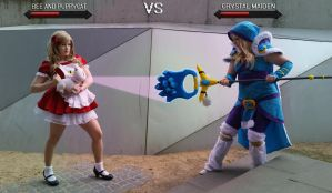 Bee + Puppycat VS Crystal Maiden by Samii-Doll