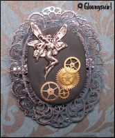 Steampunk fairy brooch by Gloomyswirl