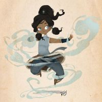 Korra Air control by Roy-Flowers