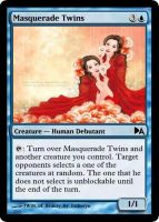 Masquerade Twins by WoodenOx