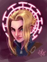 Telepath headshot painting by ComfortLove