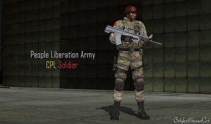 PLA Corporal Soldier (XPS Updated) by bstylez
