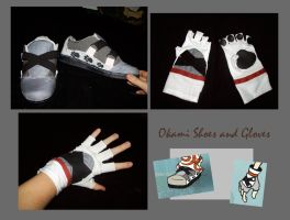 Cosplay shoes and gloves by nooby-banana