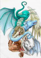Dragon collage +Colour+ by Aeyze