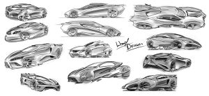 Car Sketches 13 by WoofyDesigns