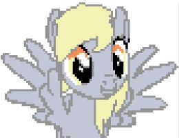 Derpy Hooves Pixels by SuneGem