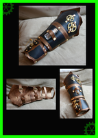 Steampunk Arm bracer by DArtJunkie