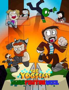 Yogscast Race for the wool poster by gremlinlord101