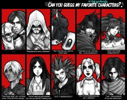 Can You Guess My Favourite (v.games) Characters? by zero081090