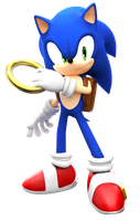 Modern Sonic with SatAM Style by FinnAkira