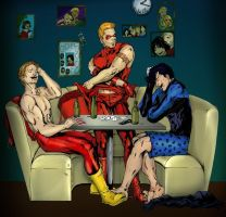 strip poker by afangirlsdream