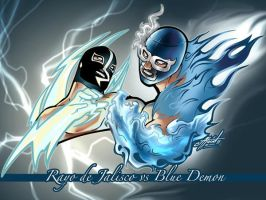 Rayo vs BlueDemon by ataud