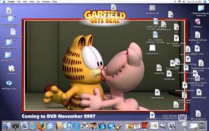 Desktop - Garfield and Arlene by Lurkerbunny
