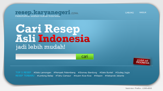 Portal Resep Indonesia by ninnoux