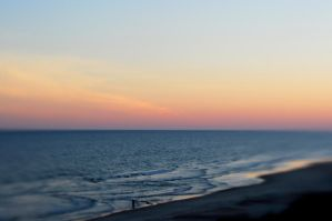 October Sunset On The Ocean by LDFranklin