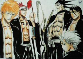 Bleach characters by Polaara