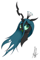 [MLP] Queen Chrysalis portrait by Ardas91