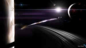 Mass effect 2 The Normandy SR2 by HingjonWallpapers