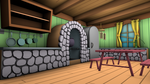 Fluttershy's Cottage - Game Models (kitchen) by discopears