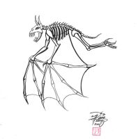 Bat skeleton drawing - photo#18