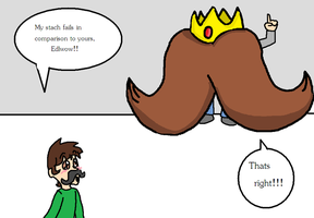 Mustache king :EXCLAMATION: by luigi2cool