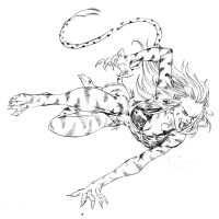 Crouching Tigra by SpiderGuile