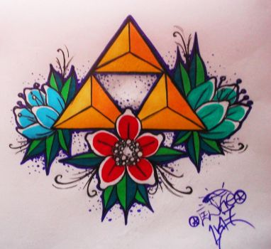 Triforce Tattoo Design by Herja89