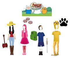 Polyvore Adventure Time Cosplay! by angelshauna