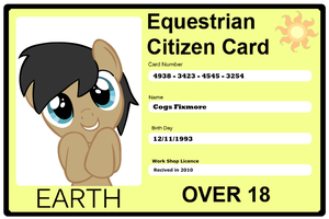 Cogsy's got a ID Card Now by Cogs-Fixmore