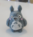Totoro felting by vrlovecats