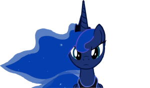 Princess Luna [gloomy face] by wolfyka