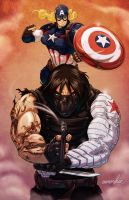 Winter Soldier v Captain America by emmshin