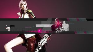 ChaoticMonarch Moogle and Lightning Banner by ChaoticMonarch
