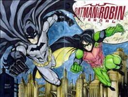 Batman and Robin Eternal sketch cover by mdavidct