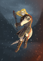 Skyrim Commission: Hunter goes berserk by GalooGameLady