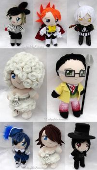 Book of Circus Chibi Plushies by ThePlushieLady