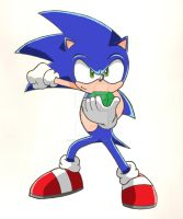 Sonic with Chaos Emerald by linkhedgehog