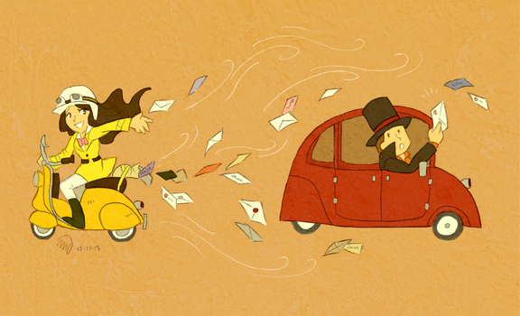 Fan Letters to Layton, from Emmy by MagicianCelemis