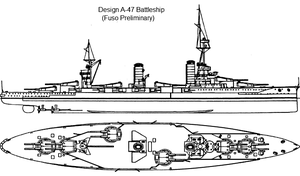Battleship Design A-47 by Tzoli